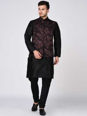 Kurta Pajama With Jacket Buy Designer Kurta Pajama With Jacket