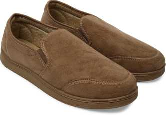 Tan Leather Slip On Shoes Womens