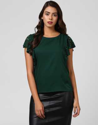 Dark Green Tops - Buy Dark Green Tops Online at Best Prices In India ... 1883344f9