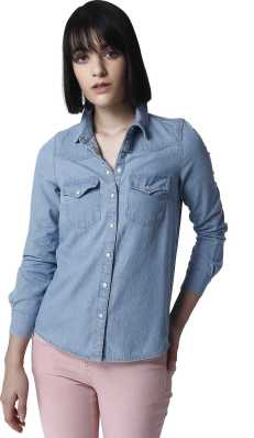 3c1cd3472 Womens Denim Shirts - Buy Denim Shirts For Women Online at Best ...