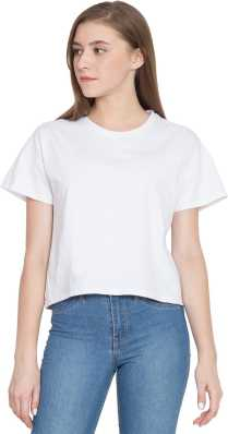 ec2a2e13341 White Crop Tops - Buy White Crop Tops online at Best Prices in India ...