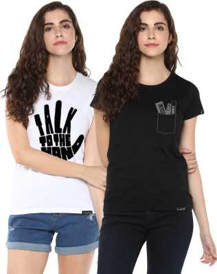 d085724c4 Women T-Shirts - Buy Polos   T-Shirts for Women Online at Best ...