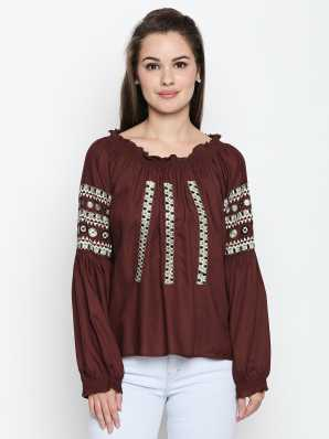 885546f7413d0 Peasant Tops Tops - Buy Peasant Tops Tops Online at Best Prices In India