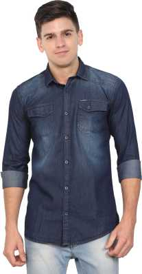70cad15fab Denim Shirts - Buy Denim Shirts Online at Best Prices In India ...