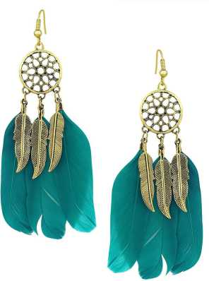 Feather Earrings - Buy Feather Earrings online at Best Prices in