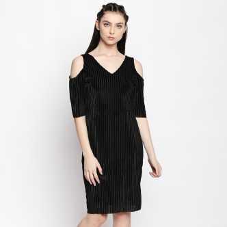 7c431e9e0a9 Cold Shoulder Dress - Buy Cold Shoulder Dresses Online at Best Prices In  India