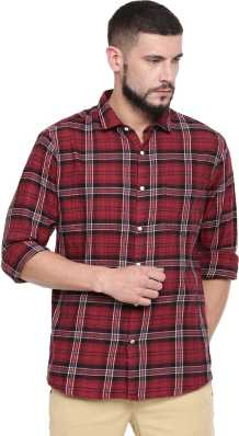 fa6ad31198a25 Red And Black Check Shirt - Buy Red And Black Check Shirt online at ...