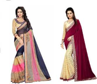 bf41b2afb2 Lycra Sarees - Buy Lycra Sarees Online at Best Prices In India ...