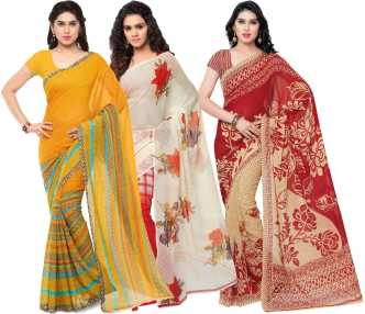 b426f828480 Anand Sarees. Printed Daily Wear Georgette Saree