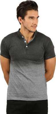 fc1f22ff Mandarin Collar Tshirts - Buy Mandarin Collar Tshirts Online at Best ...