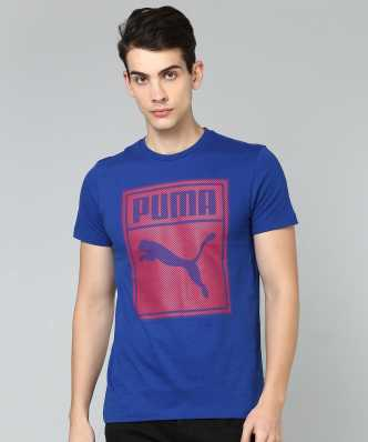 d8449813346 Puma. Solid Men Polo Neck Dark Blue T-Shirt. ₹968. ₹1