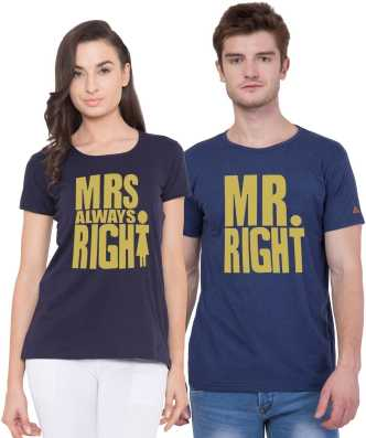 27b2f0fc Couple T Shirts - Buy Couple T Shirts online at Best Prices in India ...