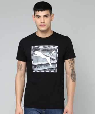 071275ab9 Black T-Shirts - Buy Black T-Shirts Online at Best Prices In India ...