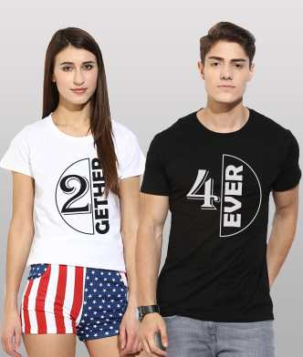 80baa9d8aa8a6 Couple T Shirts - Buy Couple T Shirts online at Best Prices in India ...