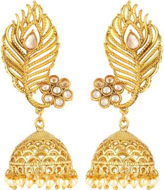 d2ac892152a03 Feather Earrings - Buy Feather Earrings online at Best Prices in ...