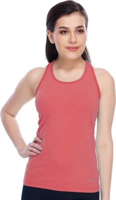 Full Floral Lace Back Solid Front Cotton Tank Top Sleeveless Racerback Spandex