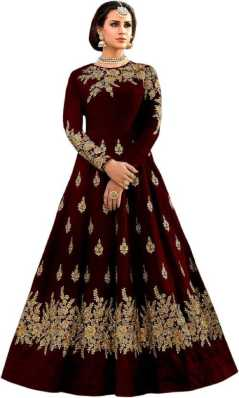 d62640dcd16bc Red Gowns - Buy Red Gowns Online at Best Prices In India | Flipkart.com