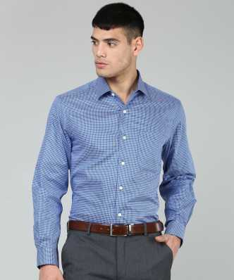 2d3e22ae8e9d9 Blue Shirts - Buy Blue Shirts Online at Best Prices In India ...