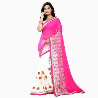 5d86a1a8a07af Mirror Work Sarees - Buy Mirror Work Sarees online at Best Prices in ...