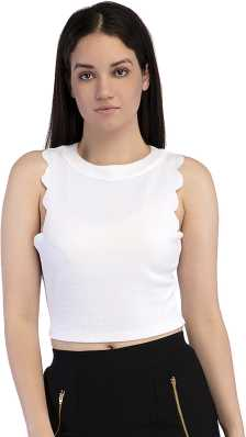 a74ec4cff15971 White Crop Tops - Buy White Crop Tops online at Best Prices in India ...