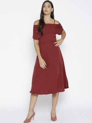 cbc185c9c Knee Length Dresses - Buy Knee Length Dresses Online at Best Prices ...