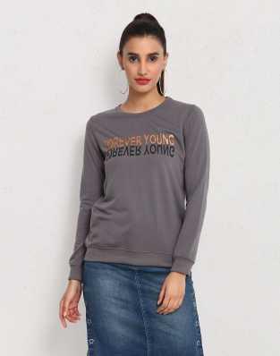 b1ac9f0237 Sweatshirts - Buy Sweatshirts / Hoodies for Women Online at Best ...
