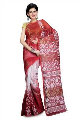 12bcc17d36 Dhakai Jamdani Sarees - Buy Dhakai Jamdani Sarees online at Best ...