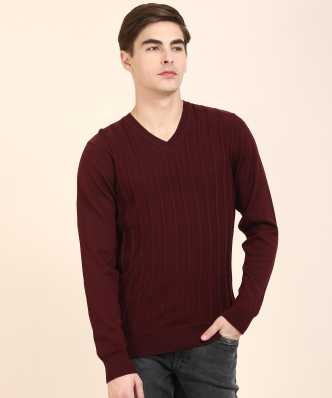 f5d7c393762be5 Raymond. Solid Round Neck Casual Men Grey Sweater · ₹1,799. ₹3,749. 52% off  · 2