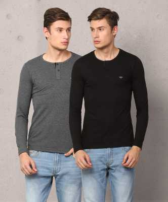 b882c7cbdcb Henley Tshirts - Buy Henley Tshirts Online at Best Prices in India ...