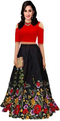 Digital Flower Floral Print Lehenga Indian Ethnic Printed Skirt Choli Crop Top Neither Too Hard Nor Too Soft Other Women's Clothing Clothing, Shoes & Accessories