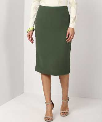 0bb541686b Knee Length Skirts - Buy Knee Length Skirts Online at Best Prices In ...