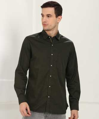 b9ee2667 Dark Green Shirts - Buy Dark Green Shirts Online at Best Prices In ...