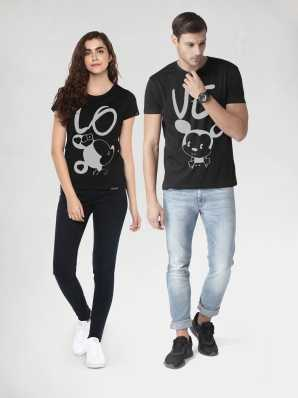 b33d94b4 Couple T Shirts - Buy Couple T Shirts online at Best Prices in India ...
