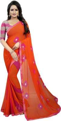 1cce19f7d1aca Orange Sarees - Buy Orange Sarees Online at Best Prices In India ...