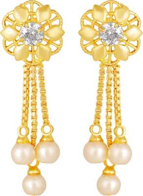 1 Gram Gold Earrings Buy 1 Gram Gold Earrings Online At Best Prices In India Flipkart Com,Gold Chain Designs For Womens With Price