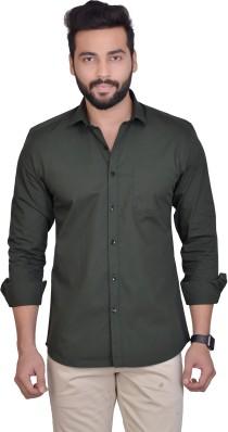 Dark Green Shirts , Buy Dark Green Shirts Online at Best