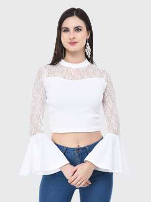 d59f635bf58 White Crop Tops - Buy White Crop Tops online at Best Prices in India |  Flipkart.com