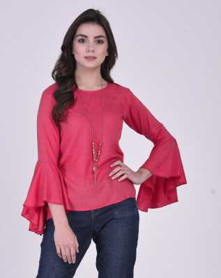 69e8056b61aebc Pink Tops - Buy Pink Tops Online at Best Prices In India | Flipkart.com