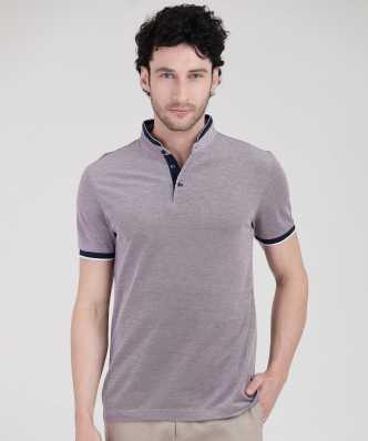 3c8a28b9 Solid Men Mandarin Collar Dark Blue T-Shirt · ₹193. ₹599. 67% off. Arrow  Sport
