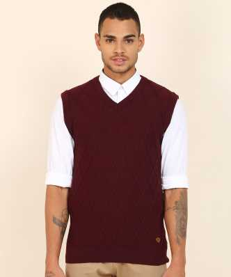 c6b1159676fe6 Sleeveless Sweaters - Buy Sleeveless Sweaters Online at Best Prices ...