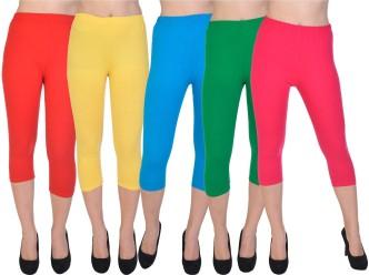 Women Casual Skinny Leggings Side Lace Up Capri Pants Slim Fit Jeggings Trousers
