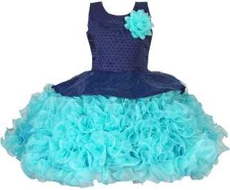 Lovely Girls Skirt Age 18-23 Months Blue Layered With White Lace Around Bottom At All Costs Girls' Clothing (newborn-5t)