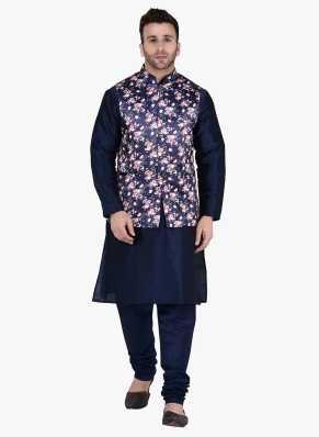 ce3a5ac86 Kurta Pajama With Jacket - Buy Designer Kurta Pajama With Jacket online at  best prices - Flipkart.com