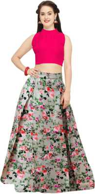 9ff7c96a1205e6 Crop Top with Lehenga - Buy Crop Top Lehengas online at best prices ...