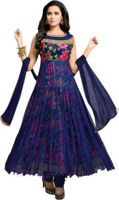 7e0261e0179 MF Retail Net Printed Semi-stitched Salwar Suit Dupatta.