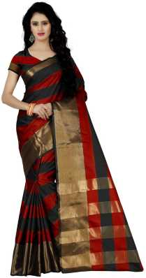 ea32965a64b3d4 Red And Black Sarees - Buy Red And Black Sarees online at Best ...