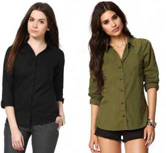 69d239c217b Women s Shirts Online at Best Prices In India