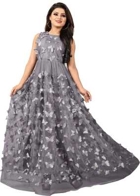 b2ffc9f6fbf Party Wear Gowns - Buy Latest Party Wear Long Ball Gowns online at best  prices - Flipkart.com