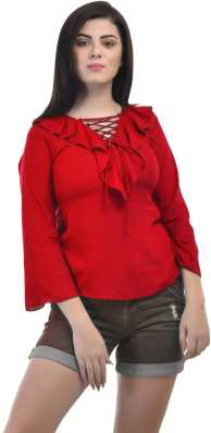 4e85d69a9eb Red Tops - Buy Red Tops Online at Best Prices In India