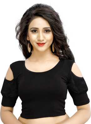 8d319e0933c85 Black Blouses - Buy Black Blouses Online at Best Prices In India ...
